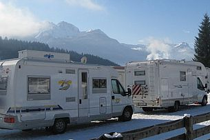 Winter am Schluga Camping Hermagor