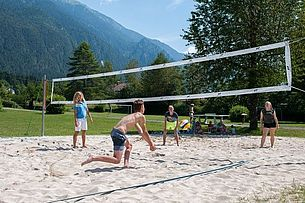 Beachvolleyball am Schluga Strand