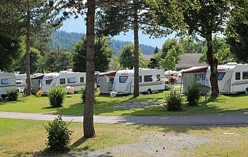 Mietwohnwagen Gebetsroither am Schluga Camping Hermagor